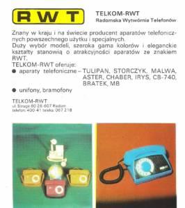 Prezentacja Telkom-RWT, 1980 r.