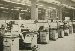 Pierwotna taśma montażowa aparatów RWT, lata 1964-66.
