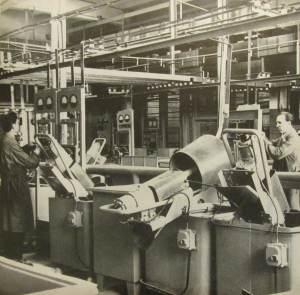 Fragment działu powłok ochronnych - RWT, lata 1964-66.