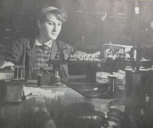 Stanowisko nawijarki cewek dzwonkowych - RWT, lata 1964-66.