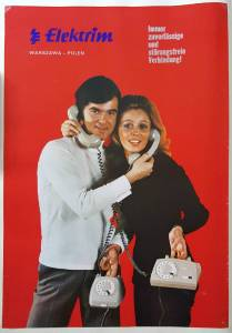 Plakat Elektrim RWT, I poł. lat 70.