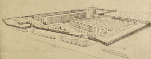 Kompleks zabudowań zakładu - RWT, lata 50-60.