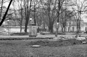 Budka MO z neonem, Poznań