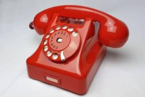 Telefon CB-59 czerwony